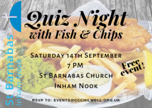 Quiz Night with fish and chips @ St Barnabas, Inham Nook