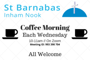 Details of the St Barnabas coffee morning